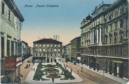 Croatia Rijeka Fiume 1918 / Piazza Elisabetta / Uncirculated, Unused - Croatia