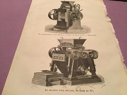 Une Page  Du Live Les Merveille De L'exposition  Le Convertisseur Pour Moulin à Farine Le Broyeur Pour Moulins De Ganz À - Machines