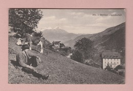 AK VS Stalden Landschaft Ges 27.07.1936 Stalden Photootypie NE #2904 - VS Valais