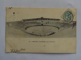 C.P.A. : 34 BEZIERS : Les Arènes, Vue Intérieure, Timbre En 1905 - Beziers