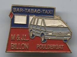 Pin's Voiture Automobile Renault Espace Taxi Bar Tabac Pouldergat Bretagne - Renault