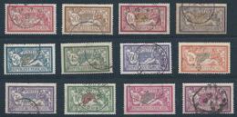 FRANCE - 1900/1931- Merson - Série Complète - N°119 à 123 + N°143 à 145 + N°206 à 208 Et N°240 - Oblitérés - TTB - 1900-27 Merson
