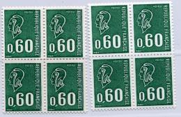 A1D- N°1815  2 Blocs De 4 Avec Et Sans Phosphore Cote 140 Euros - 1971-76 Marianne Of Béquet