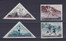 1953 San Marino  Saint Marin SPORT I° PROPAGANDA SPORTIVA 4v.: 1L, 2L, 3L E 5L MNH** - Francobolli