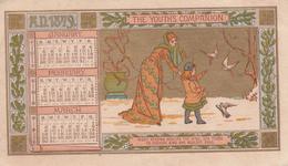 Calendar A.D. 1879 - Youth's Companion - 14 X 8 Cm - Petit Format : ...-1900