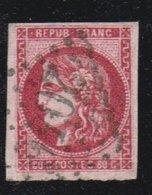 A2D-N°49 Rose Vif  Signé Roumet Et Jf Brun Sans Défaut Voir Scan De Comparaison - 1870 Emission De Bordeaux