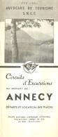 DEPLIANT TOURISTIQUE 1951  SNCF  S.N.C.F. AUTOCARS DE TOURISME ANNECY  CIRCUITS D'EXCURSIONS  VOIR TOUS LES SCANS - Dépliants Touristiques