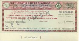 NETHERLANDS CHECK TRAVELLERS CHEQUE 50 GULDEN SPECIMEN - Assegni & Assegni Di Viaggio
