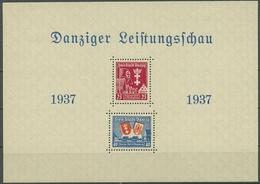 Danzig 1937 DANZIGER DORF In Magdeburg Block 3 Mit Falz - Danzig