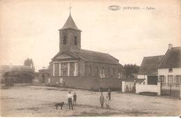 1) OSTICHES - Eglise - Cpa Non Circulée Dans L'état Bon! - Ath