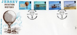 JERSEY 1973 Aviation FDC (hole Punched) - Jersey