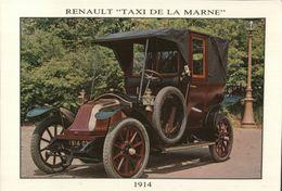 CARTE POSTALE - RENAULT TAXI DE LA MARNE - Taxi & Carrozzelle