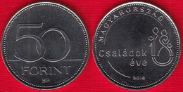 """Hungary 50 Forint 2018 """"Year Of The Family"""" UNC - Hongrie"""
