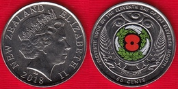"""New Zealand 50 Cents 2018 """"Centenary Of The 1918 Armistice"""" Colored UNC - Nouvelle-Zélande"""