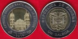 "Panama 1 Balboa 2018 (2019) ""Catedral Basilica Santa Marian"" BiMetallic UNC - Panamá"