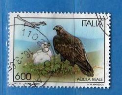 ITALIA ° - 1995 -  UCCELLI - AQUILA REALE.  Unif. 2177.    Vedi Descrizione - 6. 1946-.. Republik