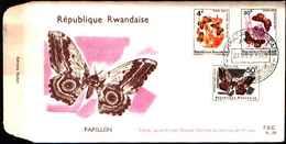 72808) FDC DEL Ruanda - 1965 Farfalle  3v . 27-9-1965 - Rwanda