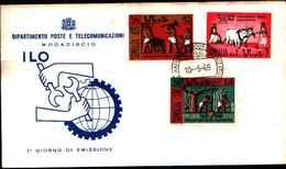 72809) SOMALIA PRIMO GIORNO ANNO 1969 FDC MOGADISHU MOGADISCIO ILO O.I.L. LABOUR LAVORO - Somalia (1960-...)