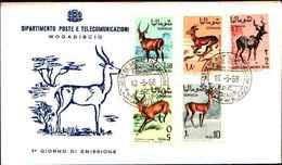 72310) SOMALIA PRIMO GIORNO ANNO 1968 FDC MOGADISHU MOGADISCIO GAZZELLE GAZZELLA - Somalia (1960-...)