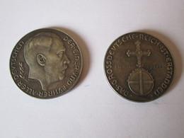 PIECE MEDAILLE ADOLF HITLER REICH ALLEMAGNE 1938 MEDAL COIN - Allemagne