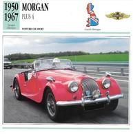 Fiche Editions Atlas Automobile Voitures De Sport Morgan Plus 4 - Voitures