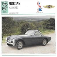 Fiche Editions Atlas Automobile Voitures De Sport Morgan Plus 4 Plus - Voitures
