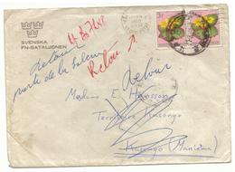 Congo Belge. Lettre De Kinshassa (Ex Léopoldville) Au Kasongo. 1960. 8 Cachets. Bataillon Suédois De L'ONU - Congo Belge