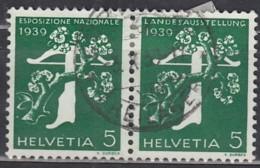 SCHWEIZ W 11, Gestempelt, Landesausstellung 1939 - Zusammendrucke