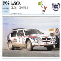 Fiche Editions Atlas Automobile Voitures De Course Lancia Delta S4 Groupe B - Voitures