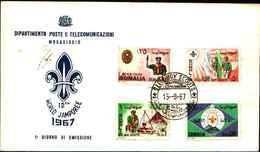 72319)  SOMALIA PRIMO GIORNO ANNO 1967 FDC MOGADISHU MOGADISCIO BOY SCOUTS JAMPOREE - Somalia (1960-...)