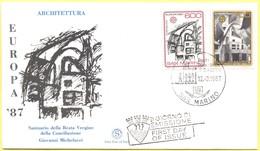 SAN MARINO - 1987 - Europa Cept - FDC Filagrano - FDC