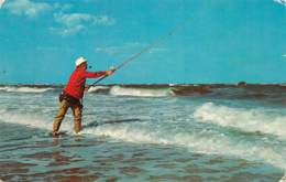 NANTUCKET - MASS. - Surf Casting Along The Shore - Nantucket