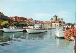 ANNECY Le Port Et La Flottille Du Lac Au Fond Le Chateau 11(scan Recto-verso) MD2561 - Annecy