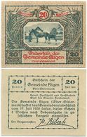 Aigen Im Ennstal, 1 Schein Notgeld 1920, Bauer Pferd, Österreich 20 Heller - Oesterreich