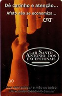 TARJETA TELEFONICA DE BRASIL. LAR SANTO ANTONIO DOS EXCEPCIONAIS 02/06 - 07/2000. BR-RS-0252A (515) - Brasil