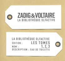 Carte Parfumée Perfume Card ZADIG & VOLTAIRE * R/V - Modern (from 1961)