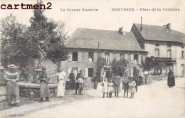 GENTIOUX PLACE DE LA FONTAINE ANIMEE 23 CREUSE - France