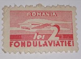 AIRMAIL ROMÂNIA 1930 AVIATION  2 LEI  REDD UNUSED, FONDUL AVIATIEI - Sin Clasificación