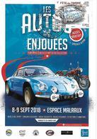 5204 - FÊTE DU TIMBRE 2018 - ALPINE RENAULT A110, Sur Carte Concordante - Cartes-Maximum