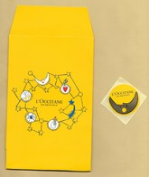 Enveloppe Pochette Promo Perfume Card L'OCCITANE EN PROVENCE + Sticker * XMAS NOEL 2018 * R/V - Modern (from 1961)