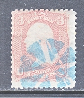 US  65  ROSE  (o)  1861-2  Issue - Used Stamps