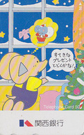Télécarte Japon - Animal - Dessin Série Famille ELEPHANT - NOEL / Sucre D'orge - CHRISTMAS Japan Phonecard - ELEFANT 526 - Télécartes