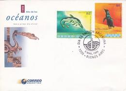 AÑO DE LOS OCEANOS, FDC BUENOS AIRES 1999-ARGENTINA- BLEUP - FDC