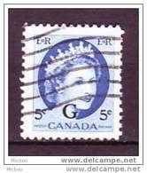 ##1, Canada, O44, Surimpression G, Élizabeth II - Overprinted