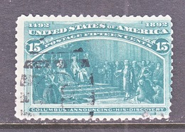 US  238  (o)   COLUMBUS  WITH  QUEEN - 1847-99 General Issues
