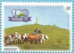 Uruguay 2018 ** Centenario De Vichadero. Ganadería,  Agricultura, Alimentacion. Arriero A Caballo. - Vacas