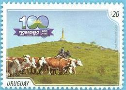 Uruguay 2018 ** Centenario De Vichadero. Ganadería,  Agricultura, Alimentacion. Arriero A Caballo. - Mucche