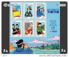 T04319 China Phone Cards Tintin Puzzle 2pcs - BD