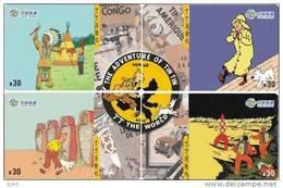 T04182 China Phone Cards Tintin Puzzle 4pcs - Cómics