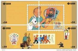 T04210 China Phone Cards Tintin Puzzle 4pcs - Comics